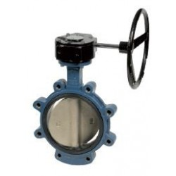 Бътерфлай клапа LUG тип VB543 с редуктор